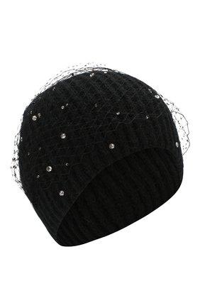 Женский шерстяная шапка JENNIFER BEHR черного цвета, арт. 46XB77 | Фото 1
