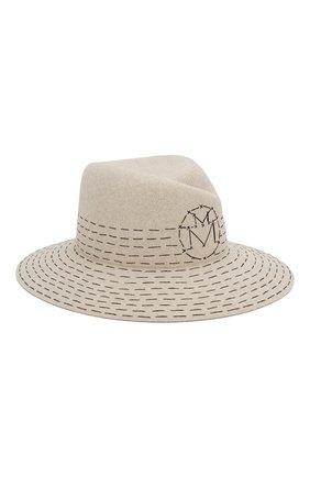 Женская фетровая шляпа virginie MAISON MICHEL серого цвета, арт. 1001108001/VIRGINIE   Фото 1