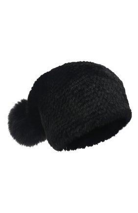 Женская шапка из меха норки KUSSENKOVV черного цвета, арт. 052850002205   Фото 1 (Статус проверки: Проверено, Проверена категория; Материал: Натуральный мех)