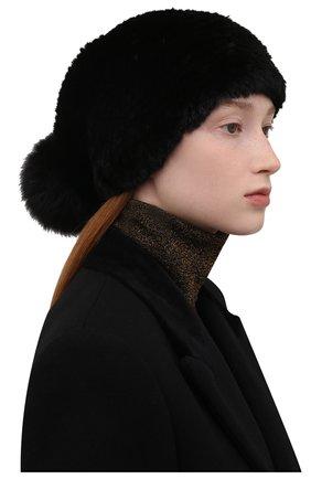 Женская шапка из меха норки KUSSENKOVV черного цвета, арт. 052850002205   Фото 2 (Статус проверки: Проверено, Проверена категория; Материал: Натуральный мех)
