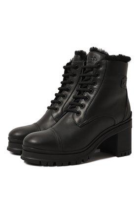 Женские кожаные ботинки PRADA черного цвета, арт. 1T584L-3KK9-F0002 | Фото 1