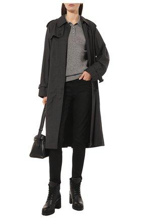 Женские кожаные ботинки PRADA черного цвета, арт. 1T584L-3KK9-F0002 | Фото 2