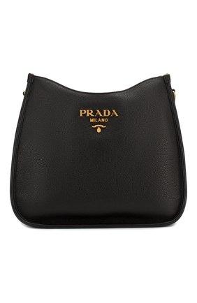 Женская сумка PRADA черного цвета, арт. 1BC073-2BBE-F0002-NOM | Фото 1