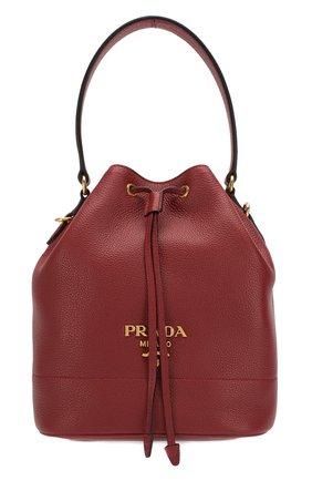 Женская сумка PRADA бордового цвета, арт. 1BE018-2BBE-F0041-NOM | Фото 1