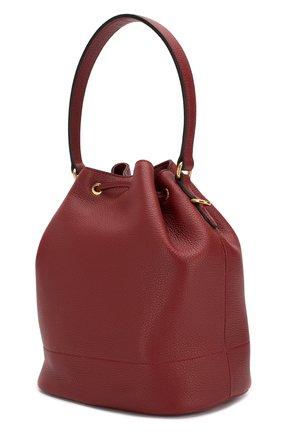 Женская сумка PRADA бордового цвета, арт. 1BE018-2BBE-F0041-NOM | Фото 2