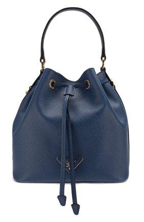 Женская сумка bucket PRADA синего цвета, арт. 1BE032-2A4A-F0016-OOO | Фото 1