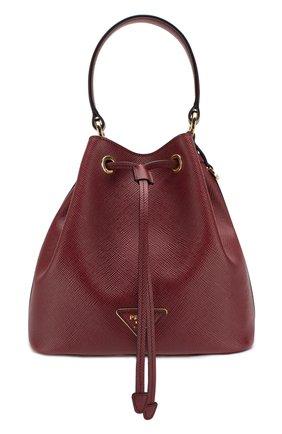 Женская сумка bucket PRADA красного цвета, арт. 1BE032-2A4A-F0383-OOO | Фото 1