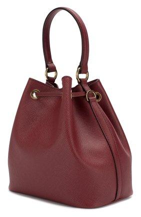 Женская сумка bucket PRADA красного цвета, арт. 1BE032-2A4A-F0383-OOO | Фото 2