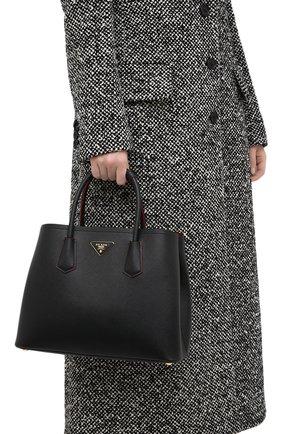 Женская сумка PRADA черного цвета, арт. 1BG775-2A4A-F0LJ4-OOO | Фото 2