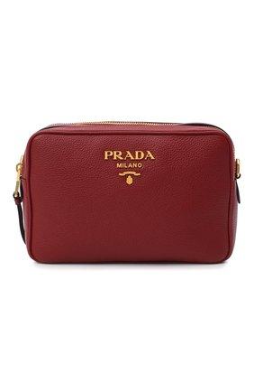 Женская сумка PRADA красного цвета, арт. 1BH082-2BBE-F0041-NOM | Фото 1