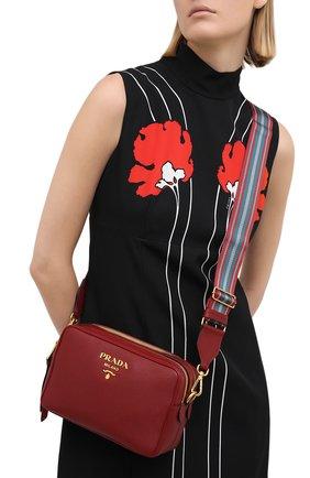 Женская сумка PRADA красного цвета, арт. 1BH082-2BBE-F0041-NOM | Фото 2