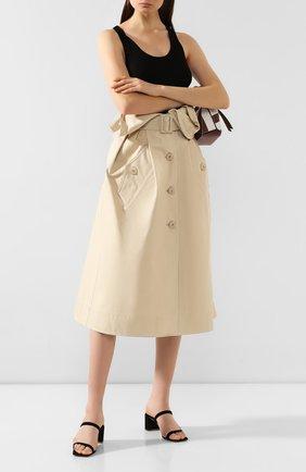Женская хлопковая юбка JACQUEMUS бежевого цвета, арт. 193SK02/30130 | Фото 2