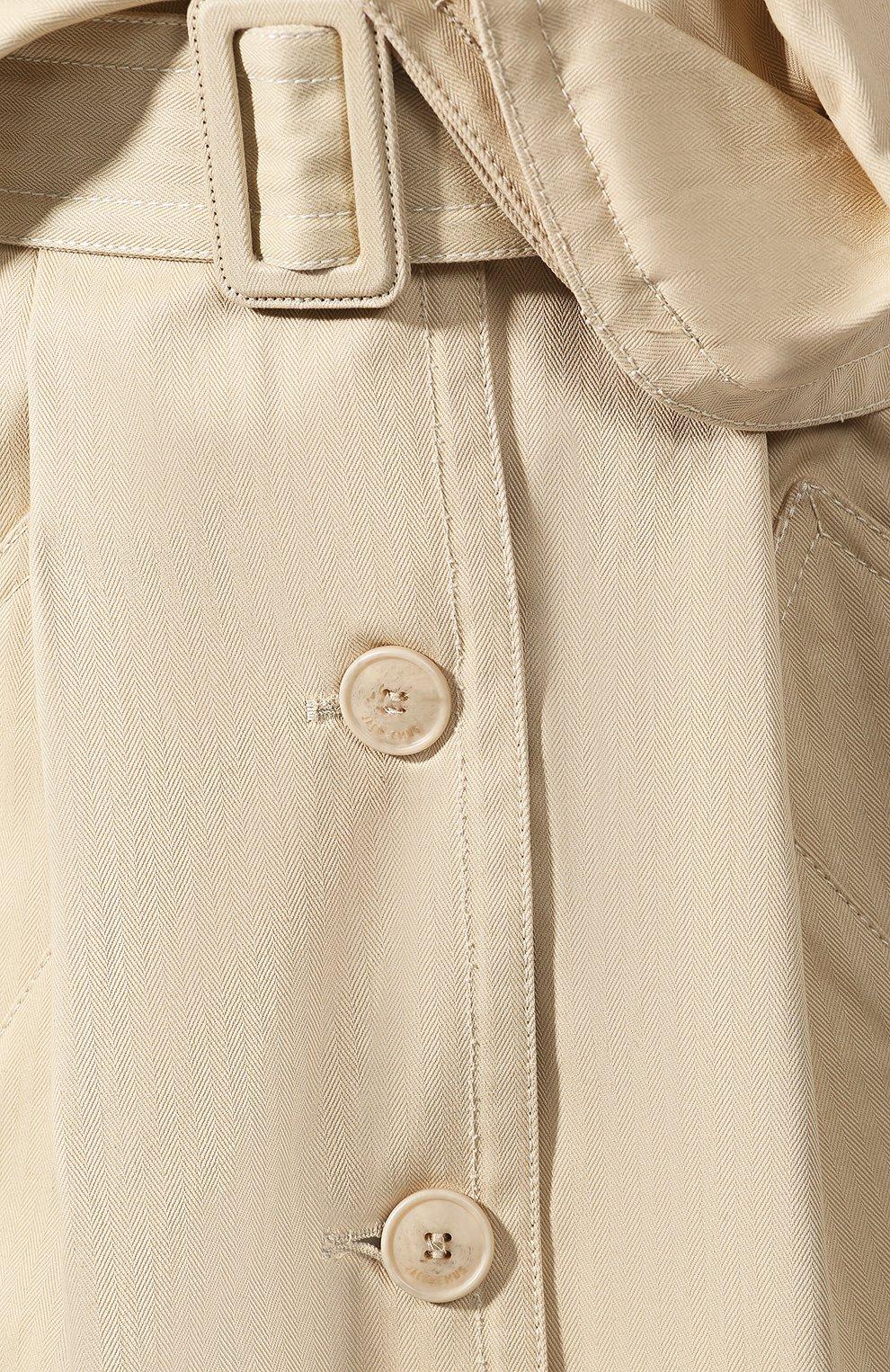 Женская хлопковая юбка JACQUEMUS бежевого цвета, арт. 193SK02/30130 | Фото 5
