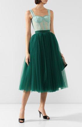 Женская юбка DOLCE & GABBANA зеленого цвета, арт. F4BRTT/HLM0U | Фото 2