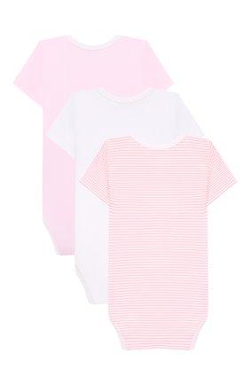 Детское комплект из 3-х боди KISSY KISSY розового цвета, арт. 38483SP | Фото 2
