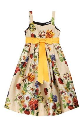 Детское шелковое платье DOLCE & GABBANA разноцветного цвета, арт. L52DA2/HS18Q/2-6 | Фото 1