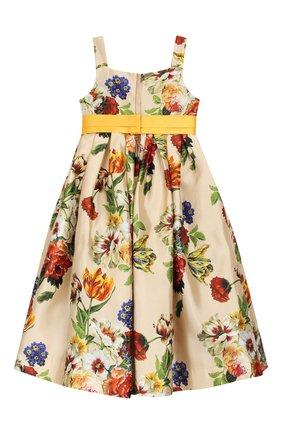Детское шелковое платье DOLCE & GABBANA разноцветного цвета, арт. L52DA2/HS18Q/2-6 | Фото 2