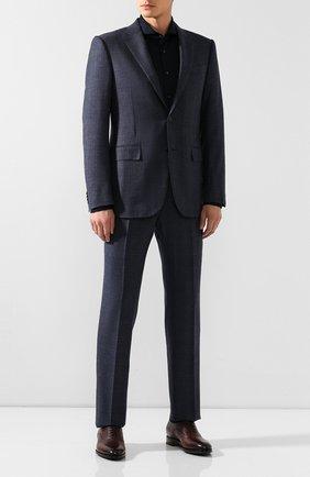 Мужская хлопковая рубашка VAN LAACK темно-синего цвета, арт. M-PER-L_180031_MW-J | Фото 2