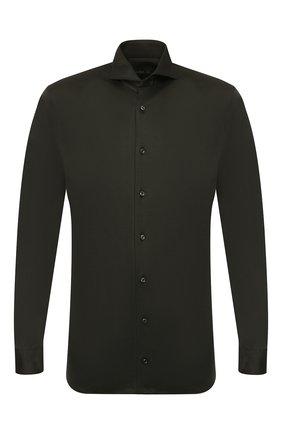 Мужская хлопковая рубашка VAN LAACK хаки цвета, арт. M-PER-LSF_180031_MW-J | Фото 1