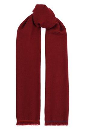 Мужской кашемировый шарф LORO PIANA бордового цвета, арт. FAF3540 | Фото 1