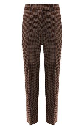 Женские шерстяные брюки RACIL коричневого цвета, арт. RS9-P11-W-0SCAR   Фото 1