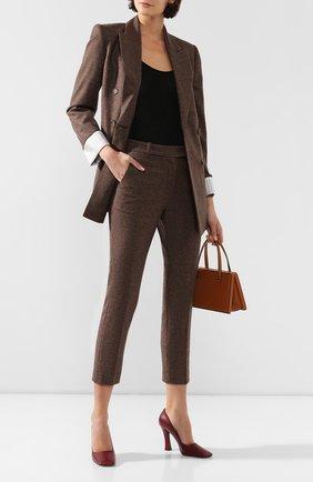 Женские шерстяные брюки RACIL коричневого цвета, арт. RS9-P11-W-0SCAR   Фото 2
