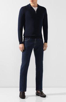 Мужские кожаные мокасины TOD'S коричневого цвета, арт. XXM0LR00041NLK | Фото 2