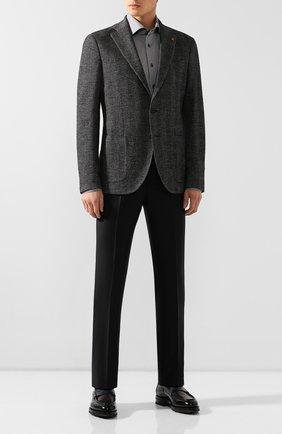 Мужская хлопковая сорочка VAN LAACK темно-серого цвета, арт. TIVARA2-PTF/162801 | Фото 2