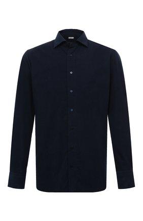 Мужская хлопковая рубашка ZILLI темно-синего цвета, арт. MFS-MERCU-39002/RZ02 | Фото 1