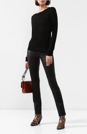 Женские кожаные брюки PAIGE черного цвета, арт. 5490A13-1086 | Фото 2