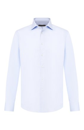 Мужская хлопковая сорочка CORNELIANI голубого цвета, арт. 84P100-9811338/00 | Фото 1