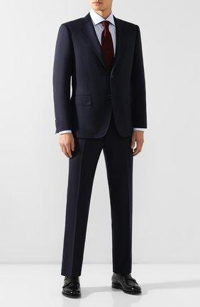 Мужская хлопковая сорочка CORNELIANI голубого цвета, арт. 84P100-9811338/00 | Фото 2