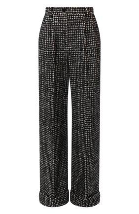 Женские брюки из смеси хлопка и шерсти DOLCE & GABBANA серого цвета, арт. FTBMPT/FMMFN | Фото 1