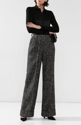 Женские брюки из смеси хлопка и шерсти DOLCE & GABBANA серого цвета, арт. FTBMPT/FMMFN | Фото 2