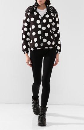 Женский двусторонняя куртка DOLCE & GABBANA черно-белого цвета, арт. F9F41T/HSM04 | Фото 2