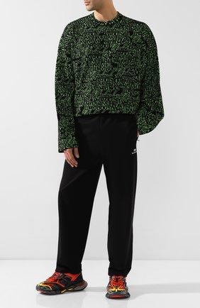 Мужской брюки BALENCIAGA черного цвета, арт. 595007/TTK21 | Фото 2
