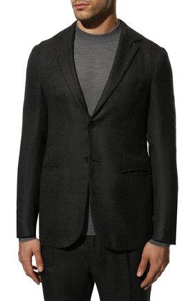 Мужской костюм из смеси кашемира и шелка KNT темно-серого цвета, арт. UAS0101K01S83 | Фото 2