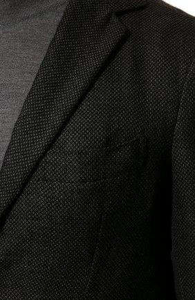 Мужской костюм из смеси кашемира и шелка KNT темно-серого цвета, арт. UAS0101K01S83 | Фото 6 (Материал внешний: Шерсть, Кашемир; Рукава: Длинные; Костюмы М: Однобортный; Материал подклада: Купро; Стили: Кэжуэл)