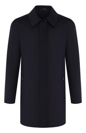Мужской пальто из смеси шелка и шерсти ZILLI темно-синего цвета, арт. MAS-TIMBU-30291/0002 | Фото 1