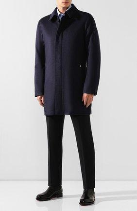 Мужской пальто из смеси шелка и шерсти ZILLI темно-синего цвета, арт. MAS-TIMBU-30291/0002 | Фото 2