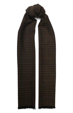 Мужской шерстяной шарф TOM FORD коричневого цвета, арт. 6TF127/2FD   Фото 1