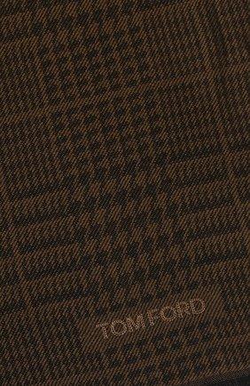 Мужской шерстяной шарф TOM FORD коричневого цвета, арт. 6TF127/2FD   Фото 2