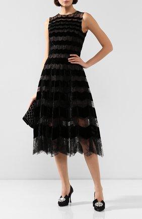 Женское шелковое платье OSCAR DE LA RENTA черного цвета, арт. 19FN634CFA | Фото 2