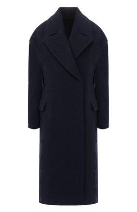 Женское шерстяное пальто ACNE STUDIOS темно-синего цвета, арт. A90152 | Фото 1