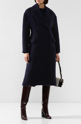 Женское шерстяное пальто ACNE STUDIOS темно-синего цвета, арт. A90152 | Фото 2