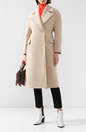 Женское шерстяное пальто ACNE STUDIOS бежевого цвета, арт. A90152   Фото 2