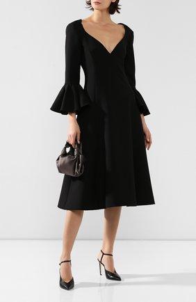 Женское шерстяное платье MARC JACOBS RUNWAY черного цвета, арт. W2190302   Фото 2