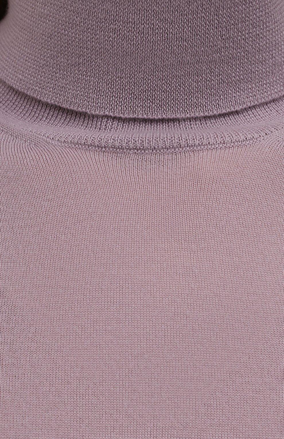 Женская кашемировая водолазка RALPH LAUREN лилового цвета, арт. 290615195   Фото 5