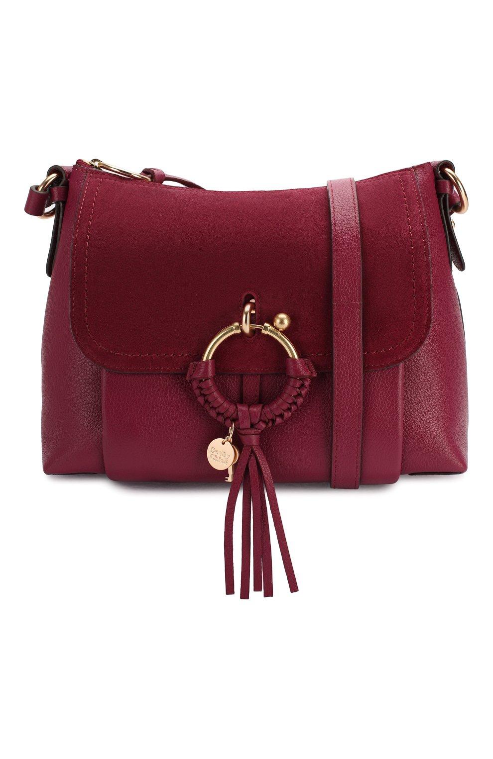 Женская сумка joan small SEE BY CHLOÉ бордового цвета, арт. CHS17US910330 | Фото 5