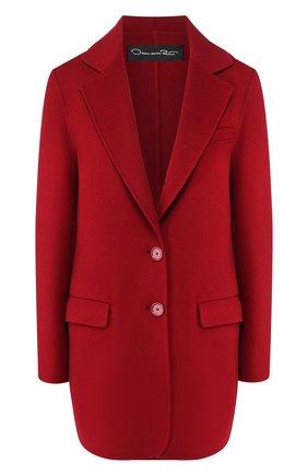Женский жакет из смеси шерсти и кашемира OSCAR DE LA RENTA бордового цвета, арт. 19FN508DBW | Фото 1